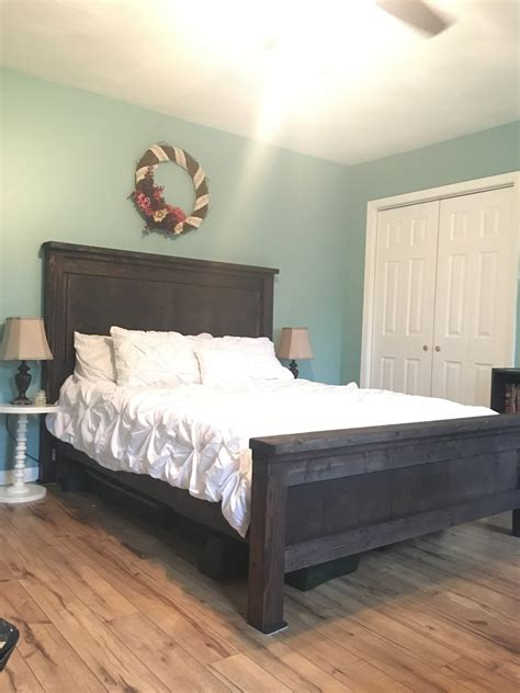 farmhouse queen bed ana white