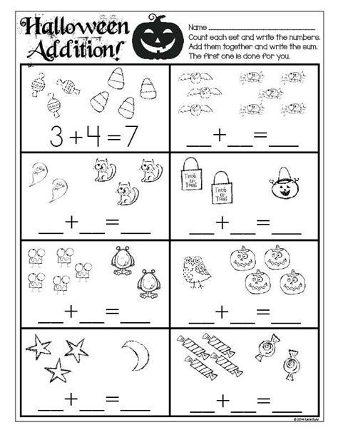 print   halloween math  literacy  prep
