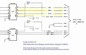 Schematic Diagram Manual Ibm 5151 Monitor
