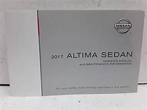 2017 Nissan Altima Sedan Owners Manual Book  Paperback