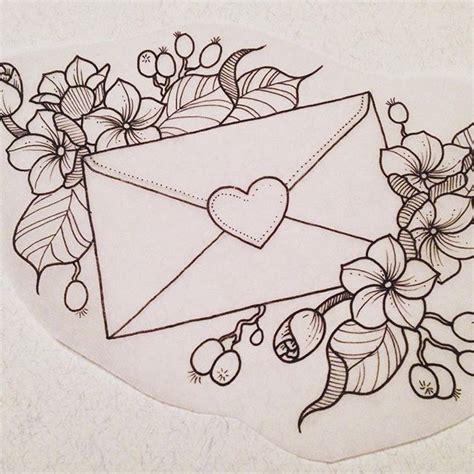 love letter tattoo design blackwork tattoo ideas