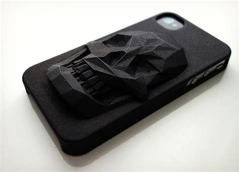 3d iphone cases 3d printed skull iphone 2 iamfatterthanyou
