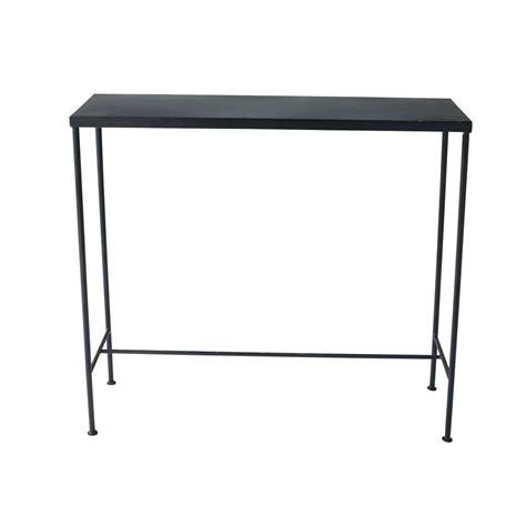 table console indus en metal noire   cm edison maisons du monde