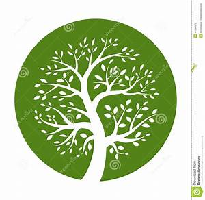 Green tree round icon stock vector. Image of illustration ...