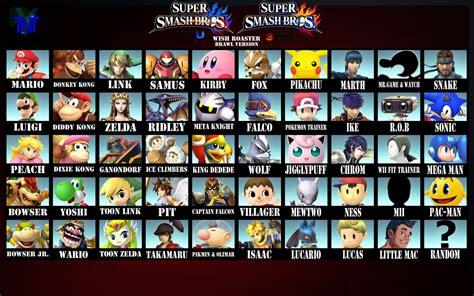 Super Smash Bros Melee Wallpaper Super Smash Bros Wii U 3ds Roster Brawl Style By Tntyoshiart On Deviantart