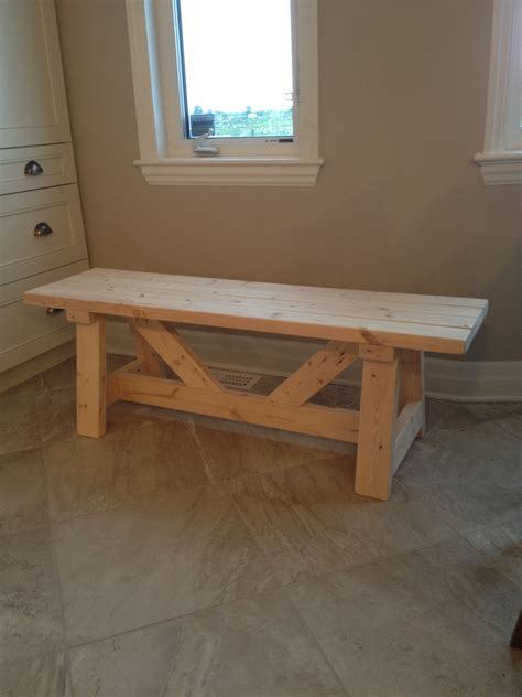 farmhouse bench   day    home projects  ana white woodworking