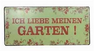 Blechschilder Sprüche Vintage : blechschild ich liebe meinen garten vintage schild ~ Michelbontemps.com Haus und Dekorationen