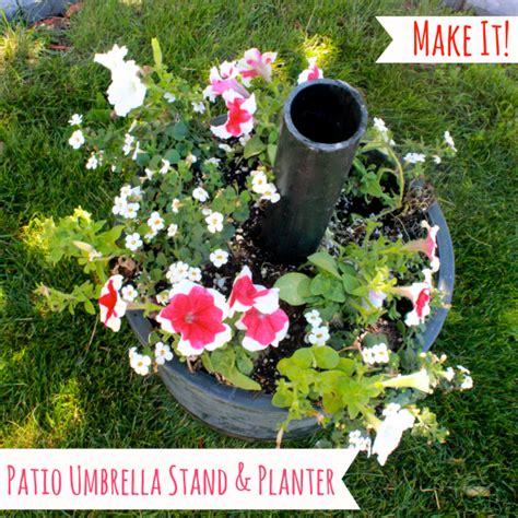diy umbrella stand and planter