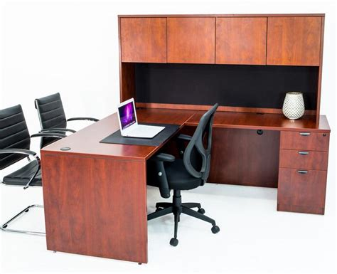 Product Of The Week A Desk L With A Mid Air Suspended Switch by L Shaped Desk With File Pedestal And Hutch Cherry