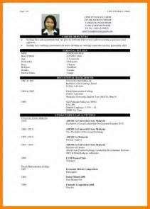 Sle Resume Template 4 Cv Sle Fresh Graduate Rn Cover Letter