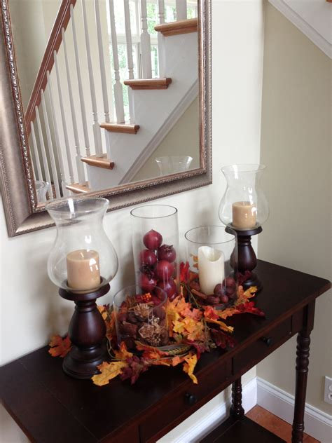 Decorating Sofa Table 23 amazing ways to style your console table with fall decor