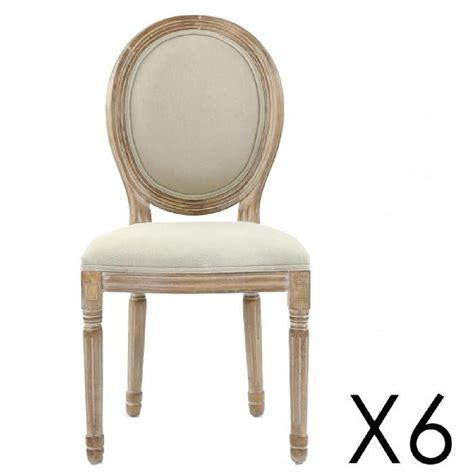 chaise tissu beige lot de 6 chaises médaillon louis xvi tissu beige achat