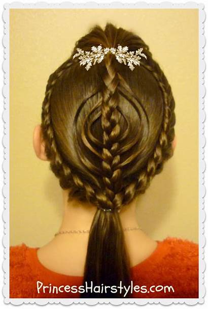 Christmas Hairstyle Hair Ornament Hairstyles Princess Braided