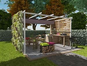 plan cuisine exterieure d ete systembaseco With plan cuisine exterieure d ete