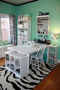 Mint, Green, Home, Office, With, White, Furniture, Pantone, Arcadia, Blue