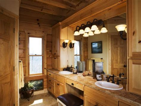 Combination Design And Colors Rustic Bathrooms