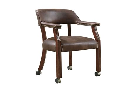 white desk chair with wheels traditional brown office chair with casters 517brn at