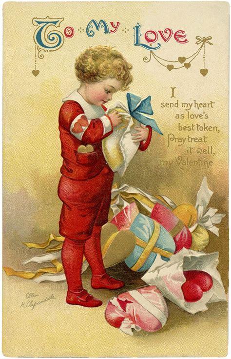 valentine children images vintage valentine cards
