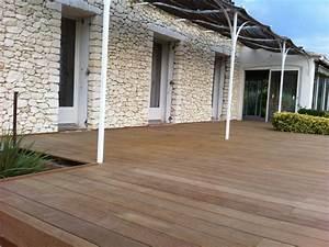 Bois Exotique Pour Terrasse : terrasse bois exotique pierre accueil design et mobilier ~ Dailycaller-alerts.com Idées de Décoration