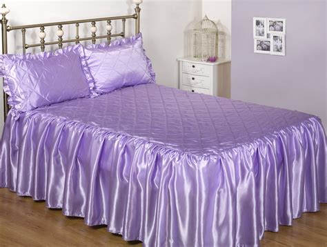 3pc luxurious sateen quilted bedspread comforter set all