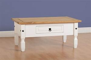 new fusion contemporary white pine solid 1 drawer wooden With white solid wood coffee table