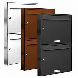 Briefkasten Mit Klingel Aufputz : 2er 1x2 briefkasten anlage aufputz wandmontage ral farbe ebay ~ Yasmunasinghe.com Haus und Dekorationen
