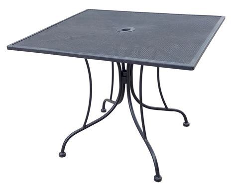 wrought iron black mesh table 36 quot x 36 quot square with