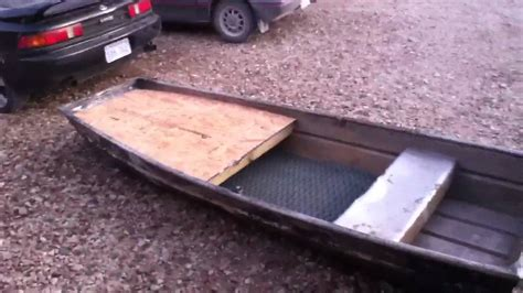 10ft Jon Boat Setup by 10 Ft Jon Boat Front Deck Modification Doovi