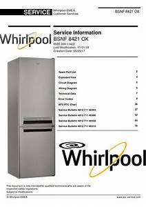 Whirlpool Bsnf 8421 Ox Refrigerator Service Manual
