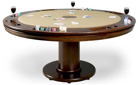 round poker table with dining contemporary poker tables design decoration pertaining to