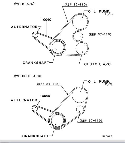 Mitsubishi Belt Diagram by 2001 Mitsubishi Mirage 1 8l Serpentine Belt Diagram