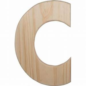 12quot natural wood letter c u0993 c craftoutletcom With natural wood letters