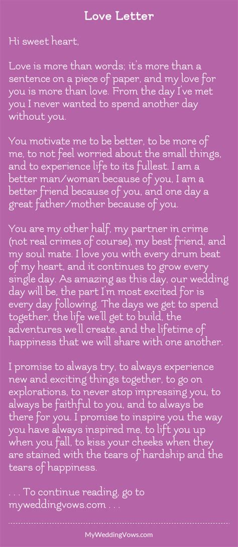 love letter wedding vows wedding day quotes wedding
