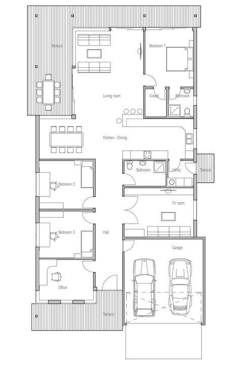modern contemporary narrow lot house plans narrow house