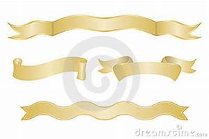 Set Of Gold Ribbon Banners Royalty Free Stock Image ...