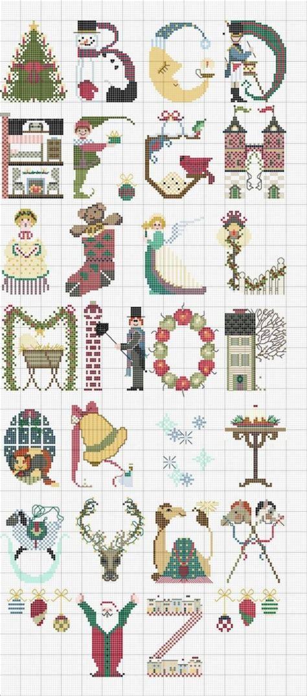 point de croix xmas alfabeto di natale molto bello magiedifilo it punto croce uncinetto schemi gratis hobby creativi