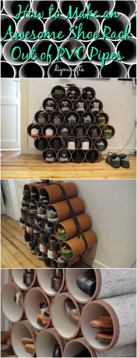 awesome shoe rack   pvc pipes diy