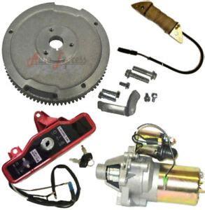 electric start kit starter motor flywheel switch honda