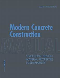 Modern Concrete Construction Manual By Detail