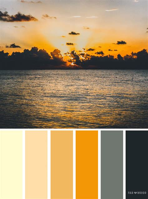 orange sky inspired color palette color inspiration