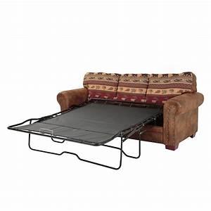 American Furniture Classics Sierra Lodge 88 In  Brown  Rust