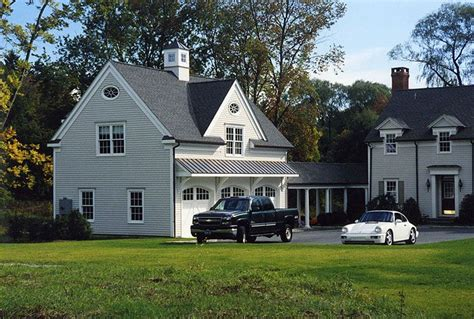 garage addition  colonial house  canaan ct demotte architects ridgefield ct
