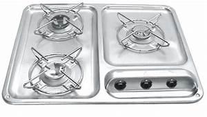 Plaque De Cuisson 3 Feux Gaz : plaque de cuisson 3 feux gaz cramer 500x400mm ~ Voncanada.com Idées de Décoration