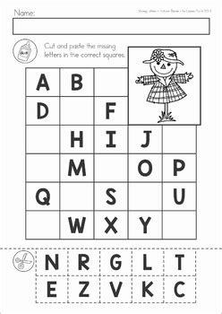 missing alphabet letters cut  paste autumn fall