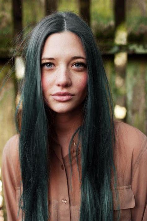 Dark Green Hair Hairy Pinterest My Hair Dark Green