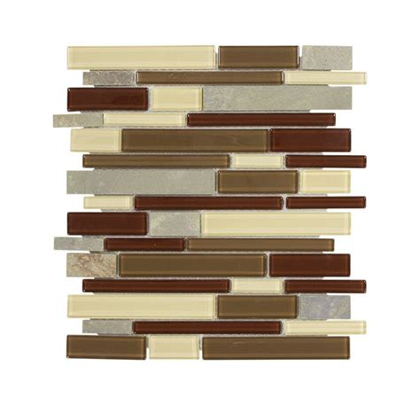 Jeffrey Court Silver Screen Mosaic Tile by Jeffrey Court Mountain Top Pencil 12 In X 12 In X 6 Mm