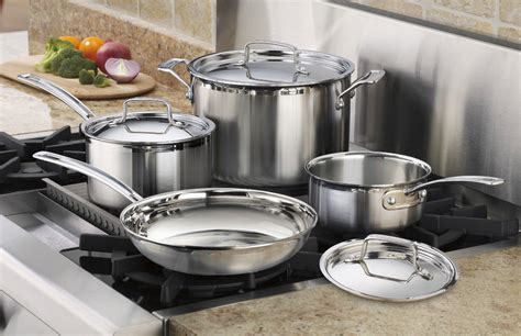 cuisinart kitchen pro cuisinart multiclad pro stainless steel cookware set 7