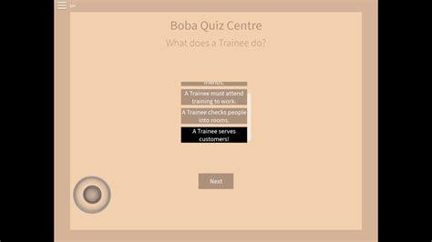 roblox boba cafe quiz  roblox promo codes