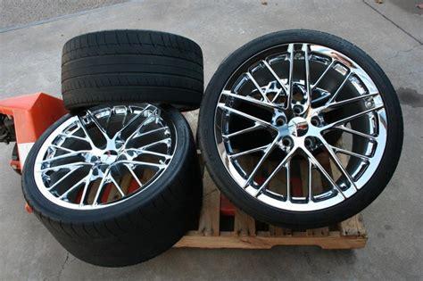gm oem chrome zr corvette   wheels tires sensor