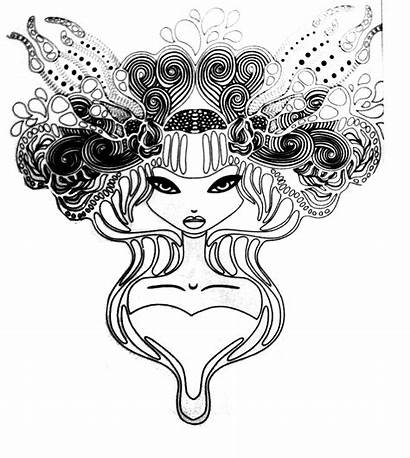 Coloring Pages Tattoo Princess Tattoos Adults Adult